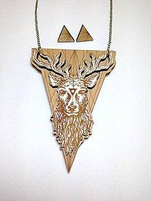 Sady šperkov - Náhrdelník J e l e n č E k + náušnice - 8421576_