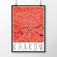 Obrazy - KRAKOV, moderný, červený - 8419891_