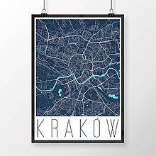 Obrazy - KRAKOV, moderný, tmavomodrý - 8420163_