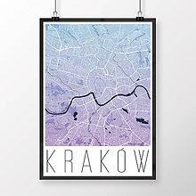 Obrazy - KRAKOV, moderný, modro-fialový - 8420518_