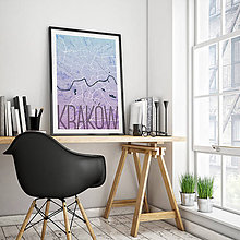Obrazy - KRAKOV, elegantný, modro-fialový - 8420533_