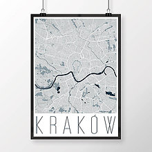 Obrazy - KRAKOV, moderný, svetlomodrý - 8421389_