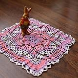 """Úžitkový textil - Čipka """"Jahodovy kvet"""" - 8420239_"""
