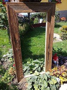 """Zrkadlá - Zrkadlo so starého dreva """"prirodzený vzhľad"""" - 8420256_"""