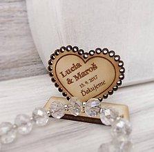 Darčeky pre svadobčanov - Drevená magnetka + menovka 2v1 (menšie) - 8421803_