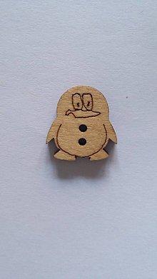 Galantéria - G115 Gombík drevený (tučniak 1,7 cm) - 8419939_