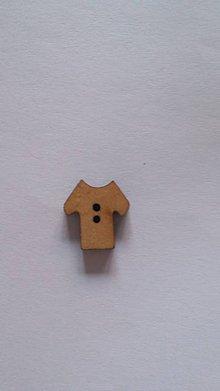 Galantéria - G115 Gombík drevený (tričko 1,2 x 1,3 cm) - 8420355_