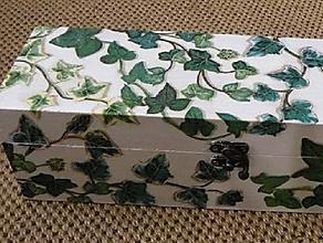 Iné - Krabice na víno břečťan - 8421687_