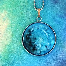 Náhrdelníky - Neptún - tyrkysový náhrdelník malý - 8421921_