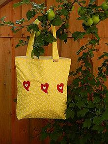 Nákupné tašky - Nákupná taška - srdiečka - 8421534_