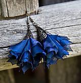 - Tanečnice tmavšie modré - elegant - náušnice - 8421648_
