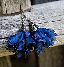 Náušnice - Tanečnice tmavšie modré - elegant - náušnice - 8421648_