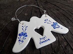 Dekorácie - anjel domova s ornamentom - 8420907_