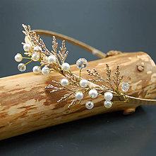 Ozdoby do vlasov - Zlatá Větev ... čelenka - 8423950_