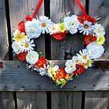 ZĽAVA 15% Závesné srdce letné, lúčne, folklórne