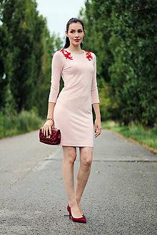 Šaty - Ružové s čipkou - 8422846_