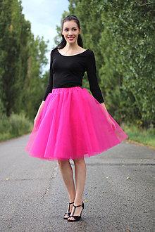 Sukne - Tylová sukňa sýto ružová - 8424294_