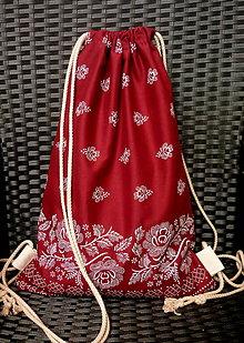 Batohy - vrecko na chrbát - bordové - 8423793_