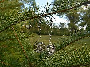 Náušnice - espiral cristall - 8422591_