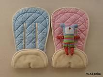 Textil - Bugaboo Donkey Twin seat liners soft pink and ice blue/ podložky pre dvojičky 100% MERINO pastelová ružová a bledomodrá - 8425844_