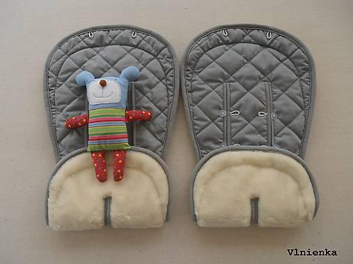 Bugaboo Donkey Twin grey seat liners / podložky pre dvojičky 100% MERINO wool na mieru