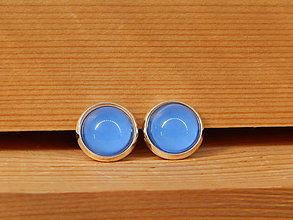 """Náušnice - Maľované náušnice """"Jednofarebky"""" 12mm (modré) - 8422775_"""