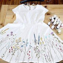 Šaty - Maľba na ľanové svadobné šaty - 8423829_