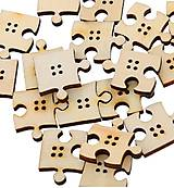 Gombík drevený puzzle