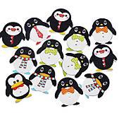 G143 Gombík drevený tučniak 2,5 x 2,4