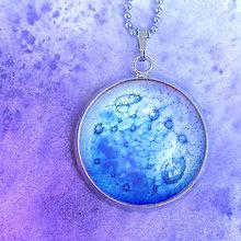 Náhrdelníky - Urán - modrofialový náhrdelník malý - 8424843_