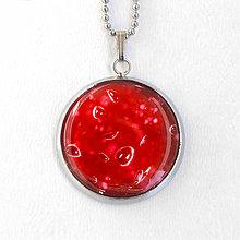 Náhrdelníky - Mars - tmavočervený náhrdelník malý - 8424875_