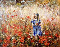 Obrazy - Dievča a maky - 8424242_