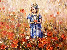 Obrazy - Dievča a maky - 8424243_