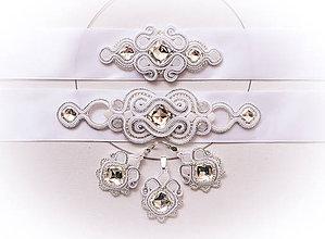 Sady šperkov - Svadba 2017 - Svadobný šujtášový opasok - 8423852_