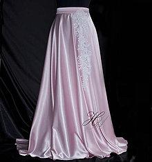 Sukne - Kruhová sukňa s krajkou - 8425702_