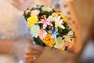Kytice pre nevestu - Letná svadobná kytica - 8425039_
