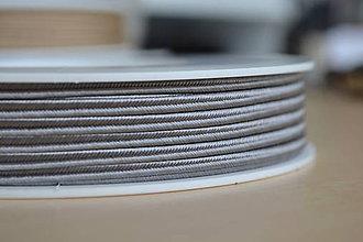 Galantéria - Šujtášová šnúrka tmavostrieborná 3mm, 0.22€/meter - 8423898_