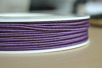 Galantéria - Šujtášová šnúrka violet 3mm, 0.25€/meter - 8423947_