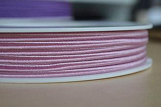 Galantéria - Šujtášová šnúrka lila 3mm, 0.22€/meter - 8424006_