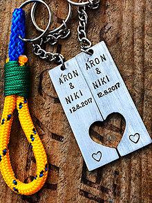Kľúčenky - Áron&Niki ... text je na želanie :) - 8428393_