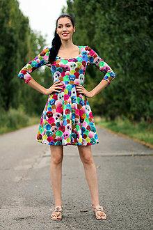 Šaty - Šaty Bambulka s rukávom ZĽAVA! - 8426075_