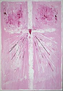 Obrazy - Láska na kríži ♥ - 8427867_