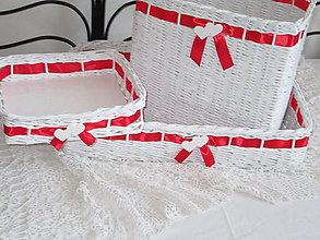 Košíky - Košíky - Svadobná súprava červená III - 8426011_