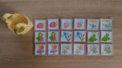 Hračky - Pexeso veselé chrobáčiky ružové - 8428158_