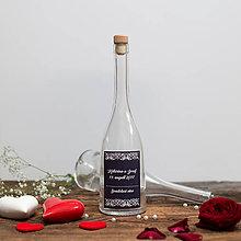 Nádoby - Fľaša na svadobné víno_10 - 8426178_