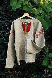 Oblečenie - Mužská ľanová košeľa Ľubomír II. - 8427951_