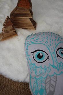 Hračky - Sovička..vankúšik alebo hračka - 8426272_