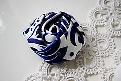 Ozdoby do vlasov - ruža do vlasov Modrý ornament - 8427079_