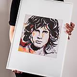 Grafika - Print A3 na papieri A2 z originál obrazu  Abstraktný portrét X. - 8426760_