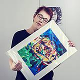 Grafika - Print A3 na papieri A2 z originál obrazu Johnny Depp - 8426818_